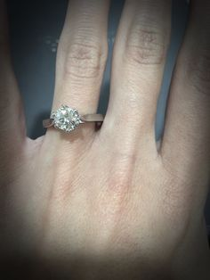 Just had to try this on before packing it up and posting it out. Another girl is going to be very happy this Christmas! #thediamondstoreuk #engagement #ring #jewellery #christmas #diamond #engagementring