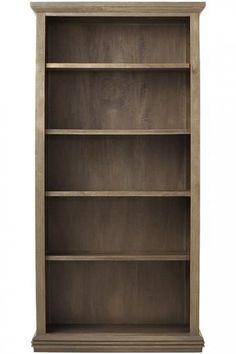 Cameo Piece White Glass Door Wall Unit WOpen Bookcases Open - Glass door bookshelves