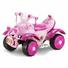 Kids Toddler ATV 6V Battery Operated Powered Quad Electric Ride On Bike Disney Princess Toddler, Disney With A Toddler, Little Princess, Princess Toys, Pink Princess, Ford Gt, Audi Tt, Volvo, Play Kitchens