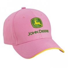 4cae1ad8daf38 John Deere Pink Toddler Hat with Green and Yellow Logo