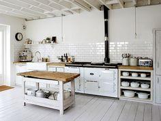 modern rustic kitchen via -happyhappy love