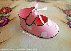 Little girl baby shoe favor box gift box