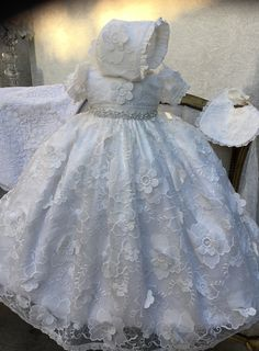Little Girl Dresses, Flower Girl Dresses, Christening Gowns, Girl Doll Clothes, Cotton Lace, Special Occasion Dresses, Blessing, American Girl, Looks Great
