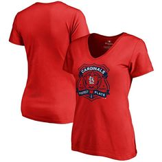 St. Louis Cardinals Women's Police Badge Slim Fit T-Shirt - Red - $24.99