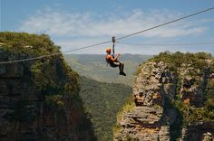Zip Line in Durban, South Africa. Ziplining, or as we call it in South Africa, foefie slides, are similar to a flying fox - Dirty Boots Adventure Activities, Adventure Tours, Family Adventure, Shark Diving, Ocean Sounds, Kwazulu Natal, Rafting, Beautiful Beaches, South Africa