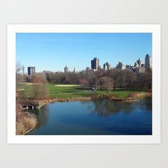 New York City's Central Park Art Print by Kelley Albert on Society New York City Central Park, Park Art, Art For Sale, River, Fine Art, Art Prints, Outdoor, Art Impressions, Outdoors