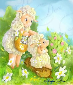 Hump Day Humor, Image Pinterest, Easter Messages, Cute Sheep, Kids Canvas, Sheep And Lamb, Hoppy Easter, Love Drawings, Tinkerbell