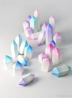 DIY Paper Crystals Boxes (Advent)