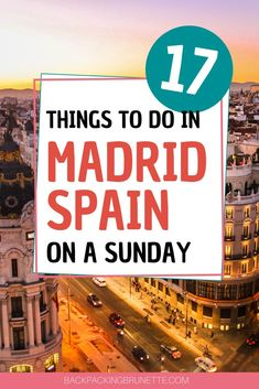 Wondering what to do in Madrid? Check out this post with 17 AMAZING things to do in Madrid on Sunday. Your Madrid Spain travel itinerary isn't complete without these Madrid Spain travel tips. Europe Travel Guide, Spain Travel, France Travel, Travel Tips, Travel Destinations, Madrid Travel, Barcelona Travel, Best Places To Travel, Cool Places To Visit