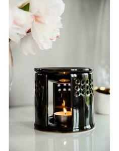 Brûle parfum Anshula noir, en céramique.