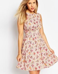 Image 1 of Emily & Fin Lucy Printed Full Skater Dress