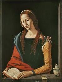 Piero di Cosimo (1462–1521) Maria Maddalena Between 1500 and 1510 Oil on panel 72 × 53 cm (28.3 × 20.9 in) Galleria Nazionale d'Arte Antica