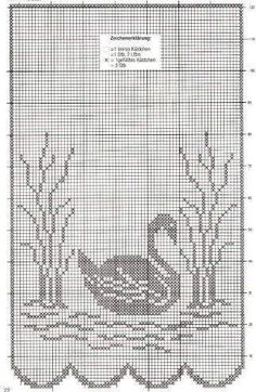 Crochet Curtain Patterns Part 3 - Beautiful Crochet Patterns and Knitting Patterns Crochet Curtain Pattern, Crochet Curtains, Curtain Patterns, Crochet Doilies, Crochet Birds, Thread Crochet, Crochet Stitches, Knit Crochet, Filet Crochet Charts
