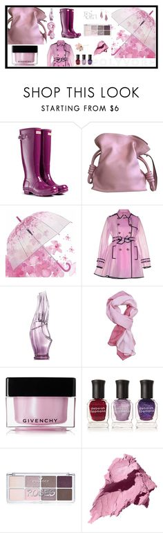 """Without the rain, no flowers !"" by onenakedewe ❤ liked on Polyvore featuring Hunter, Loewe, RED Valentino, Donna Karan, Fendi, Givenchy, Deborah Lippmann, Forever 21, Bobbi Brown Cosmetics and Alexis Bittar"