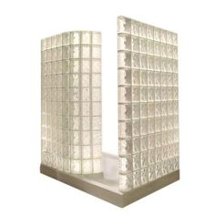 Want walk-in glass block shower kits? Depending on your available space, the Quality Glass Block and Window Company walk-in shower could be perfect for you. Walk In Shower Kits, Big Shower, Walk In Shower Designs, Dream Shower, Glass Blocks Wall, Block Wall, Glass Block Shower, Showers Without Doors, Douche Design