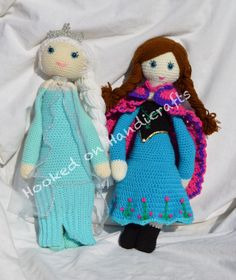 Lalylala mod of Elsa & Anna from Frozen by Hooked on Handicrafts