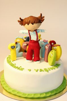 Lola and the Numbers, cake, modelling, sugarpaste, seker hamuru modelleme