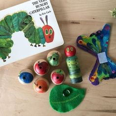 """Woodpeckers Crafts on Instagram: """"This interactive Very Hungry Caterpillar set is seriously incredible! Let kids read along and act out the story using the pieces.…"""" Woodpeckers, Baby Learning, Very Hungry Caterpillar, Kids Reading, Childrens Books, The Incredibles, Crafts, Instagram, Ideas"""