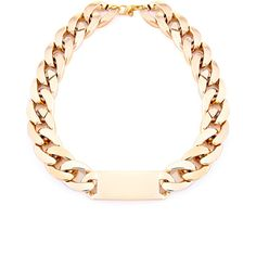Alycia Oversized Chain Necklace in Gold ($12) ❤ liked on Polyvore featuring jewelry, necklaces, accessories, gold, gold jewellery, yellow gold necklace, gold chain jewelry, yellow gold chain necklace and chain jewelry