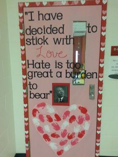 Valentine's day door black history month