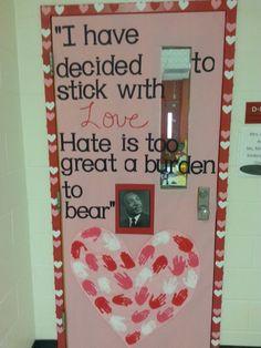 Valentine's day door black history month
