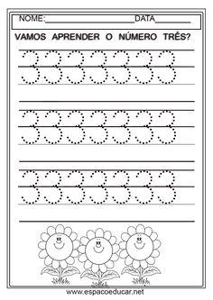 Atividades para a Educação infantil sobre os numerais. Clique sobre cada uma para ampliar antes de salvar.           ...