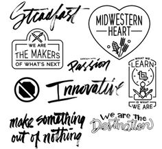 WMC Fest asked a handful of artists to provide some lettering and designs for their short film about the 2012 conference. Nate Utesch provided a slew of brushed type and vector badges for the project.