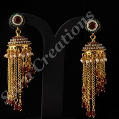 Chain Styled Jhumka Earring Scer 1235