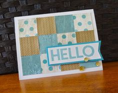 Scrap Stamp Share: CTMH Hello Card