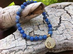 Blue Aventurine gemstones Stretch Bracelet by MiaCocoDesigns, $13.00