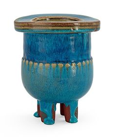 A Wilhelm Kåge Farsta stoneware vase, Gustavsberg Studio, 1958. Height 13,5 cm.. - Modern Autumn Sale, Stockholm 569 – Bukowskis