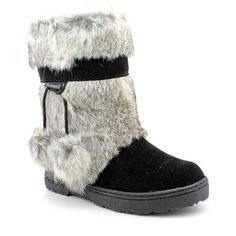 Bearpaw Tama II Women Winter Boots ($130) ❤ liked on Polyvore featuring shoes, boots, black, bearpaw shoes, bearpaw boots, black strap boots, strappy boots and strap shoes