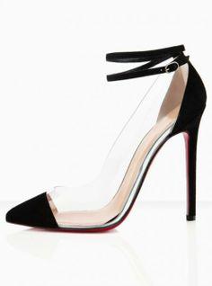 Perfect Christian Louboutin Bis Un Bout Pumps Black, Perfect You Stilettos, Pumps Heels, Stiletto Heels, Neon Pumps, Neon Shoes, Fab Shoes, Dream Shoes, Shoes Style, Black High Heel Pumps
