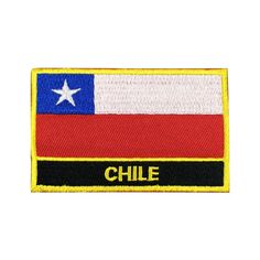 Chile Flag Patch Embroidered Patch Gold Border Iron On patch Sew on Patch Bag Patch patch iron on patch flag patch Nation Flag Gold Border Gold Border Patch Patches sew on patch Embroidered patch iron on patches Chile Chile patch Chile flag meet you on www.Fleckenworld.com