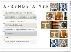 """""""Aprende a ver Arquitectura"""" (Aplicación interactiva de Secundaria) Home Decor, Color, Geography Classroom, Social Science, Kunst, Decoration Home, Room Decor, Colour, Home Interior Design"""