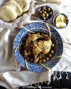 El cuaderno de recetas: Pollo con Limón Encurtido & Aceitunas. Una lucura de sabores.