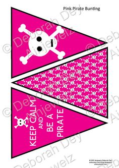 Keep Calm and Be A Pirate Pink Bunting by Ainjewelz