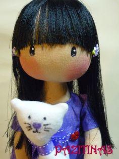 muñeca de trapo, muñeca inspiración gorjuss. Hecha a mano , hand made, rag dolls