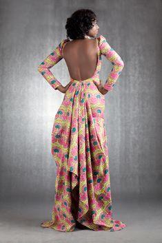 Traîne colorée [#pagne #wax #tissuafricain]