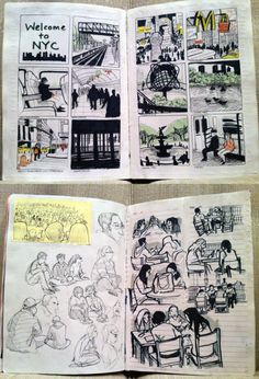Animatedbuzz - Animation Art page Sketchbook Layout, Sketchbook Pages, Sketchbook Inspiration, Sketch Journal, Art Sketches, Art Drawings, Graphic Novel Art, Notebook Art, Art Challenge