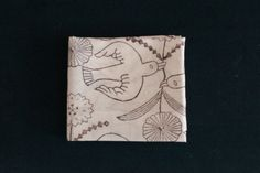 Makoto Kagoshima|木版プリントのハンカチ〈鳥と花〉|THE STABLES ステーブルズ