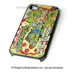 Tmnt Ninja Turtle Say Yes To Pizza iPhone 4 4S 5 5S 5C 6 6 Plus Case , – Resphonebility