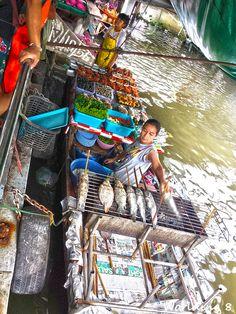 Mercado flotante Taling Chan (Bangkok)