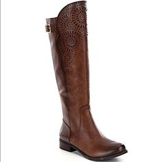 Gianni Bini boots laser cut out size 7 New With Box. TTS 7. sold out in stores! Gianni Bini Shoes Heeled Boots