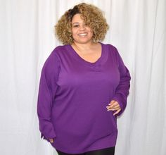 Only Necessities New Purple Woven Collar Blouse 4x Plus Size  #OnlyNecessities #Blouse