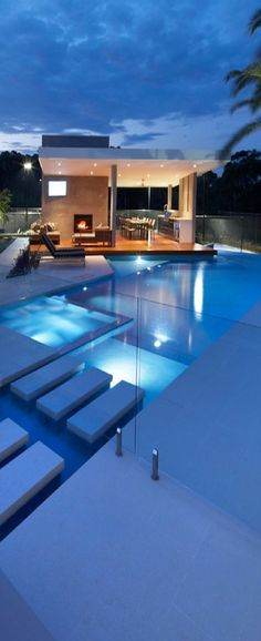 How do you create the atmosphere with your LED lights? ♥ Loved and pinned by www.desertpoolsandspas.com