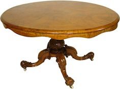 One Kings Lane - Country-Estate Style - 19th-C. English Walnut Breakfast Table