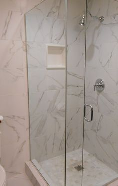 Astonishing Shower Space Of Los Alamitos Contemporary Bathroom Added On The Corner With Toilet Nearby