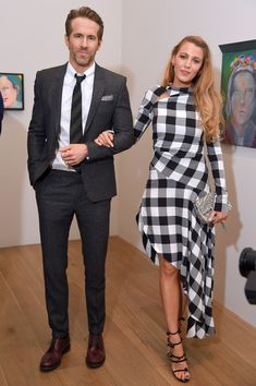 """Blake Lively Photos - Actors Ryan Reynolds and Blake Lively All artworks by Martial Raysse .© 2018 Martial Raysse, Artists Rights Society (ARS), New York / ADAGP, Paris attends the """"Final Portrait"""" New York Screening After Party at Levy Gorvy Gallery on March 22, 2018 in New York City. - 'Final Portrait' New York Screening - After Party"""