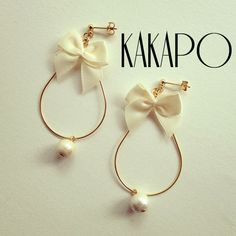 Ribbon loop White pierce (NO.1907) by KAKAPO